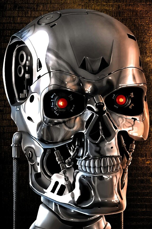 terminator skeleton metal black eye iphone case