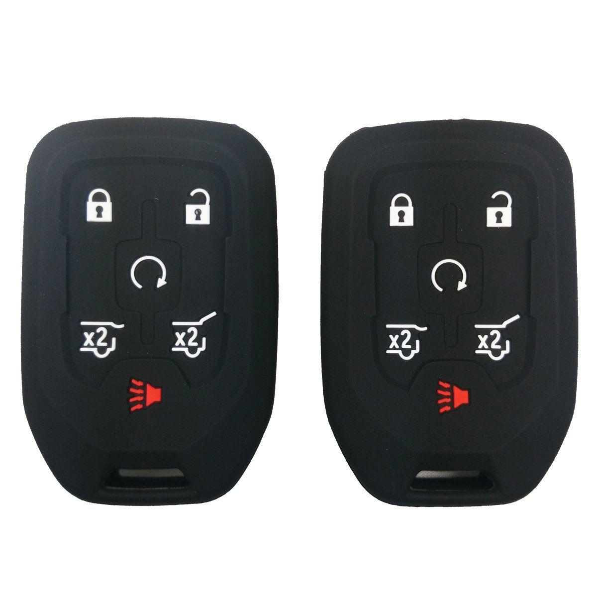 2pcs Coolbestda Silicone Smart Key Fob Cover Case Remote Skin