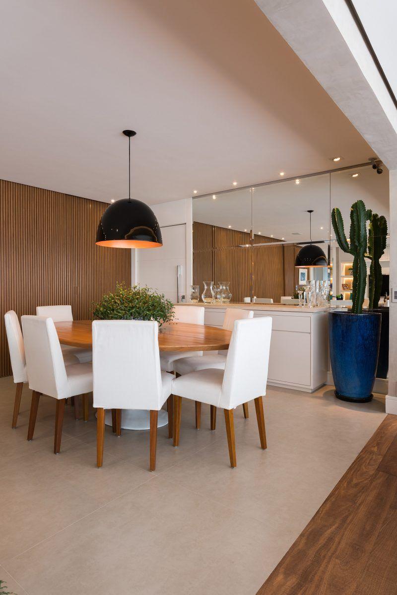 Varanda Gourmet Integrada Com Sala De Tv E Jantar No Projeto
