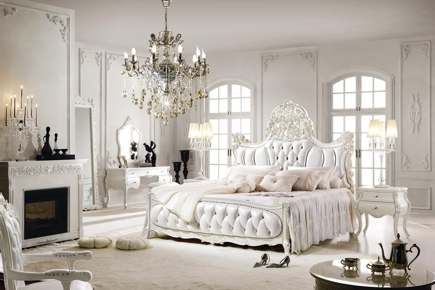 White Bedroom Interior Luxurious Bedrooms Bedroom Interior