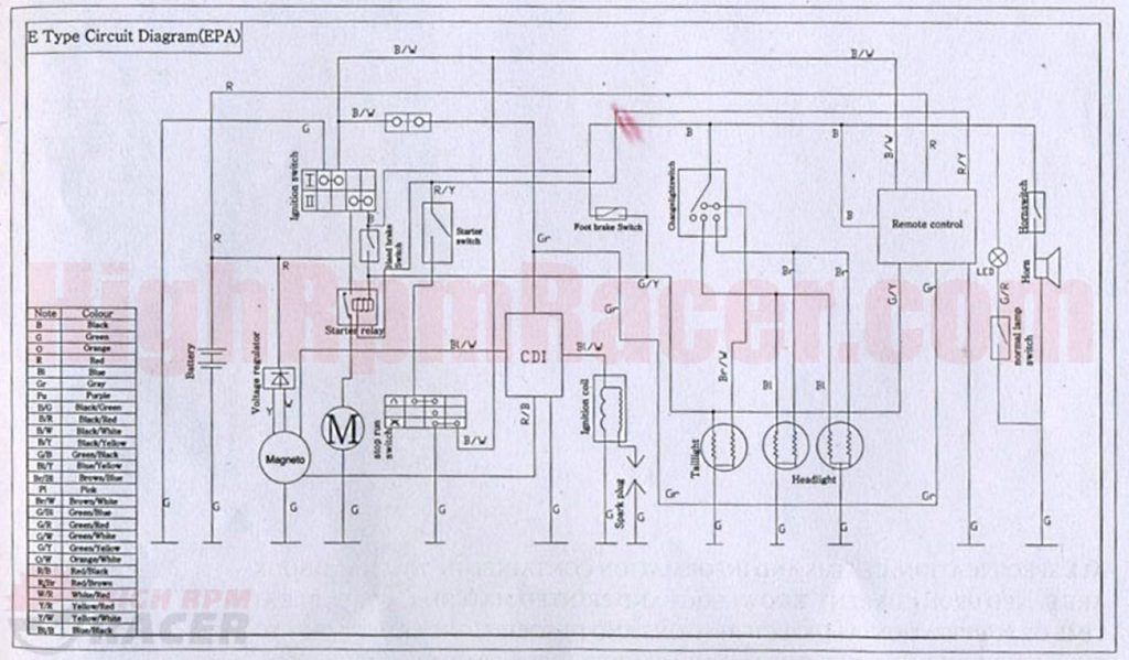 falcopy110 wd for wiring diagram for chinese 110 atv