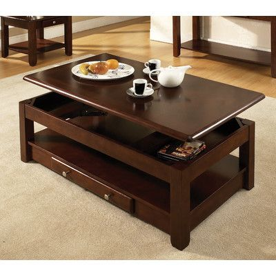 Loon Peak Arboles Coffee Table With Lift Top Finish Cherry