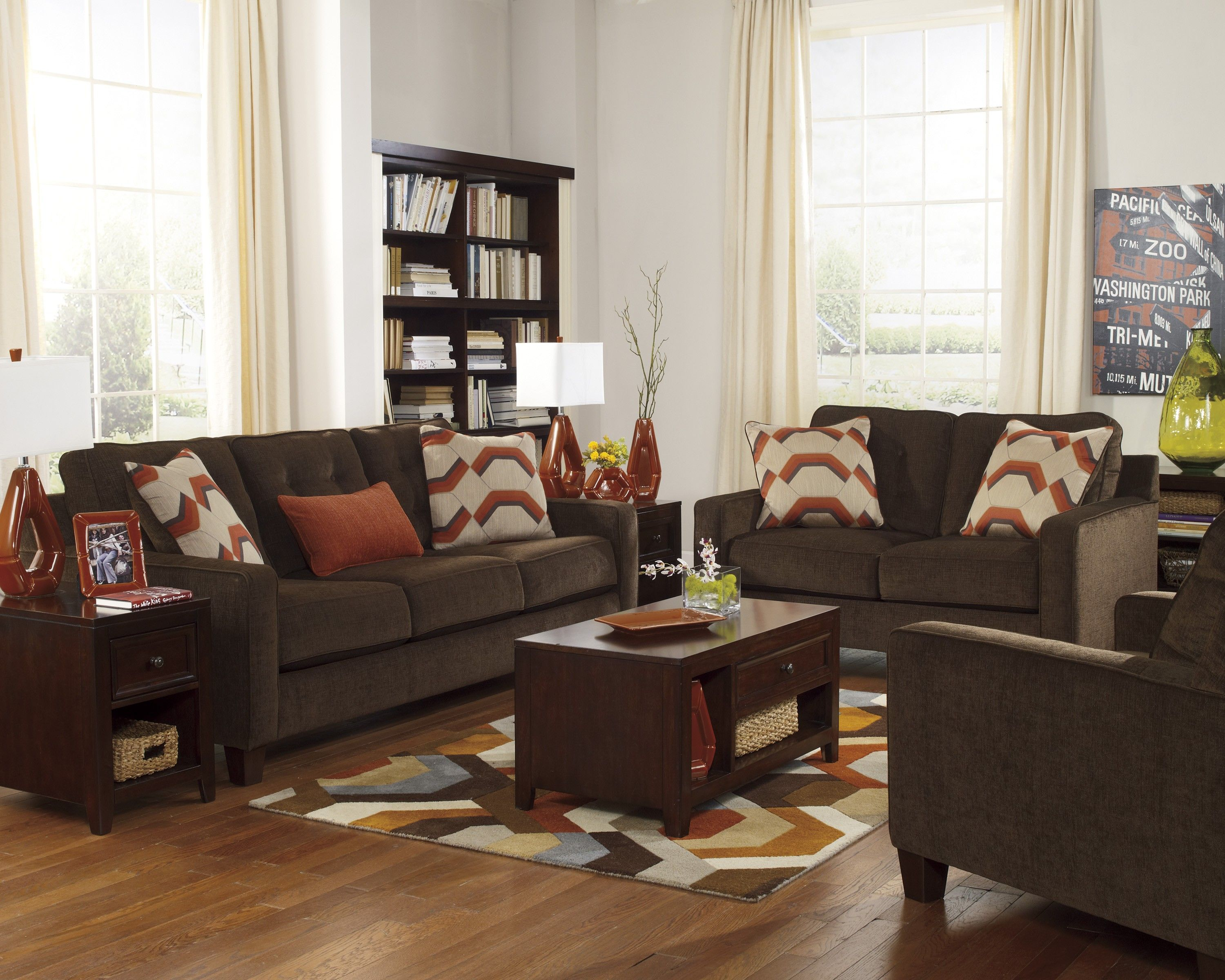 buy verbena  ashley furniture furniture brown couch