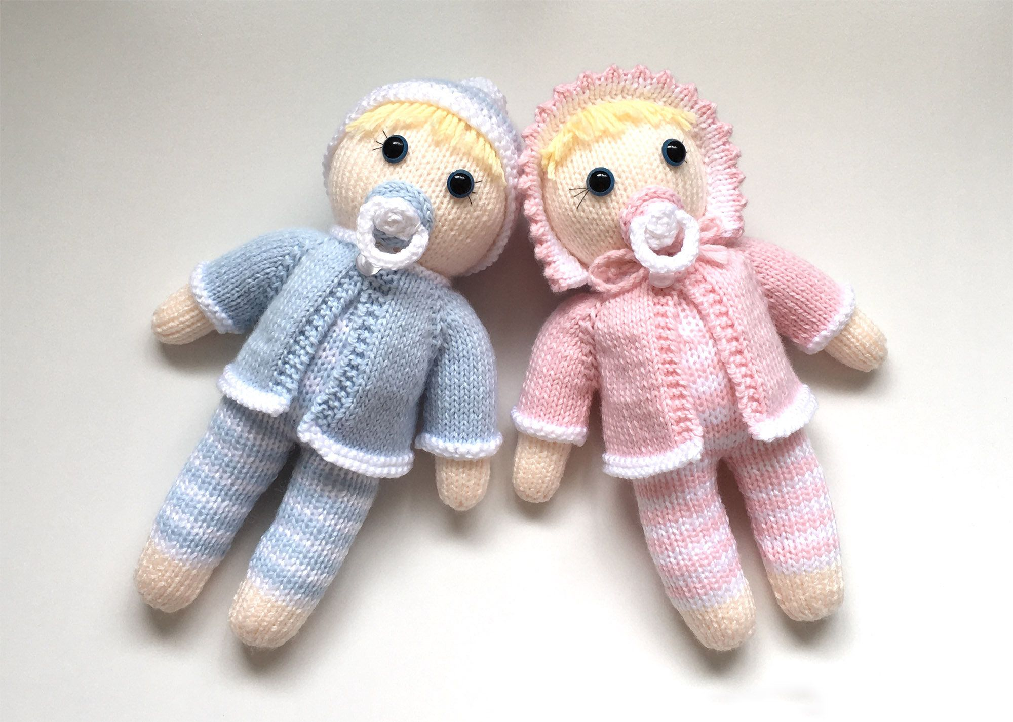 Doll Knitting Pattern Toy Baby Knitting Pattern Twin Doll ...