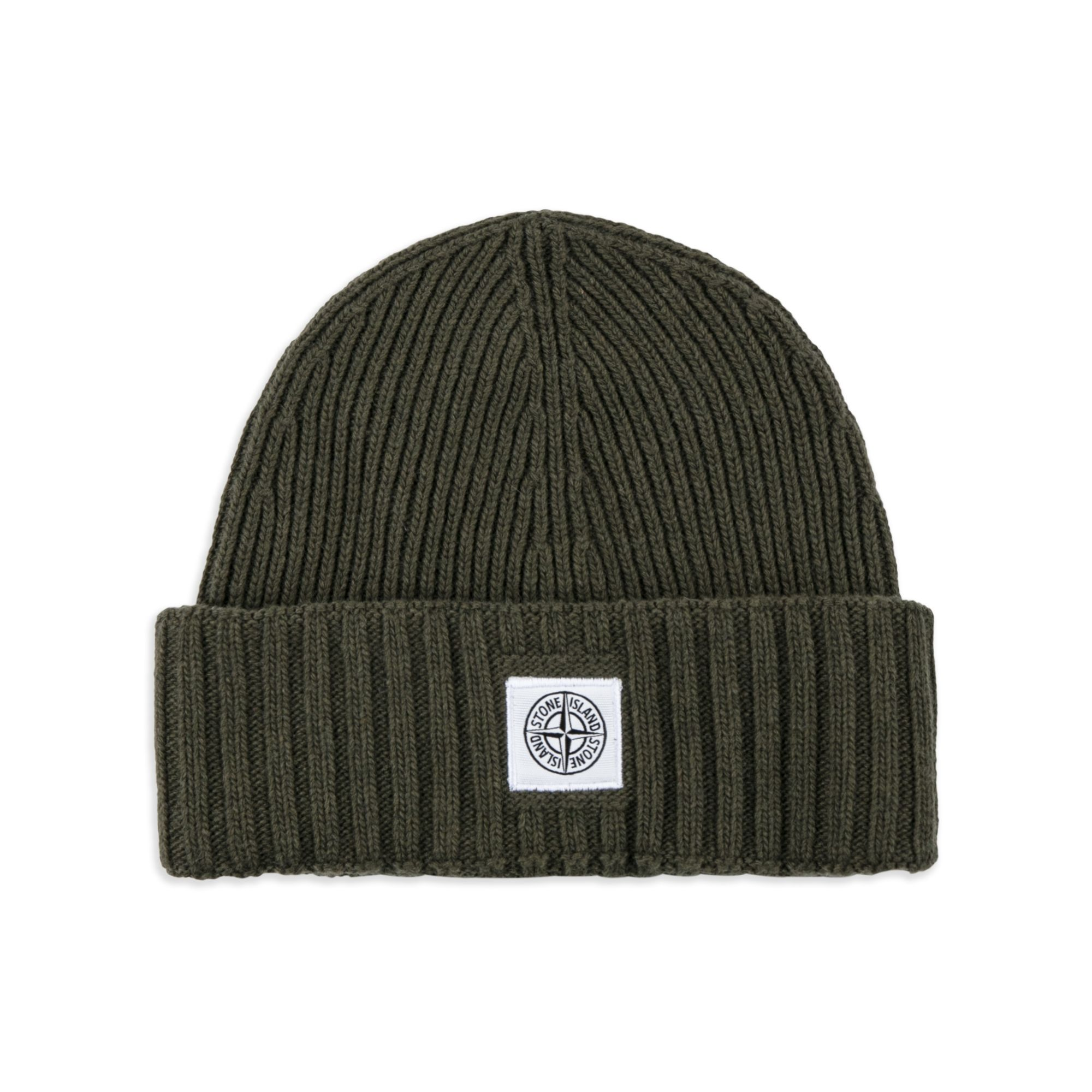 Ribbed-knit wool beanie hat Stone Island q3wJ921jE