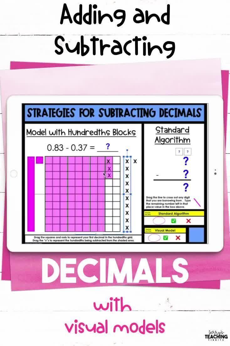 Adding And Subtracting Decimals Digital And Printable Bundle Video Video Subtracting Decimals Decimals Adding And Subtracting Adding and subtracting decimal numbers
