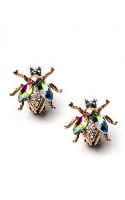 Queen Bee Iridescent Earrings