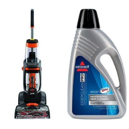 Bissell 1548 Proheat 2x Revolution Pet Full Size Carpet Cleaner And Bissell 78h6b Deep Clean Pro 2x Deep Cleaning Co Remove Pet Stains Pet Stains Deep Cleaning