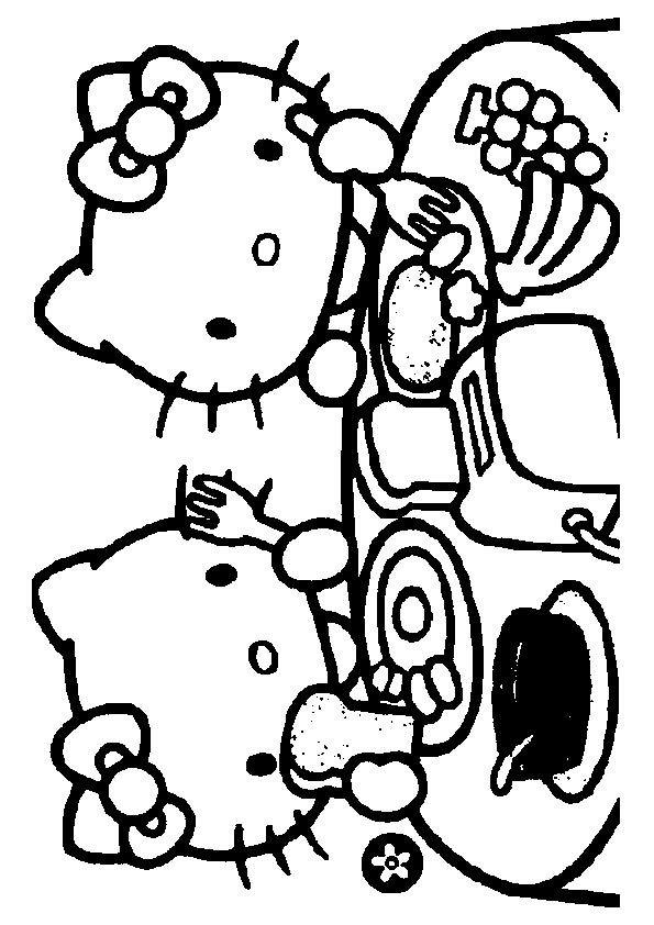 print coloring image ColoringHello Kitty Hello kitty