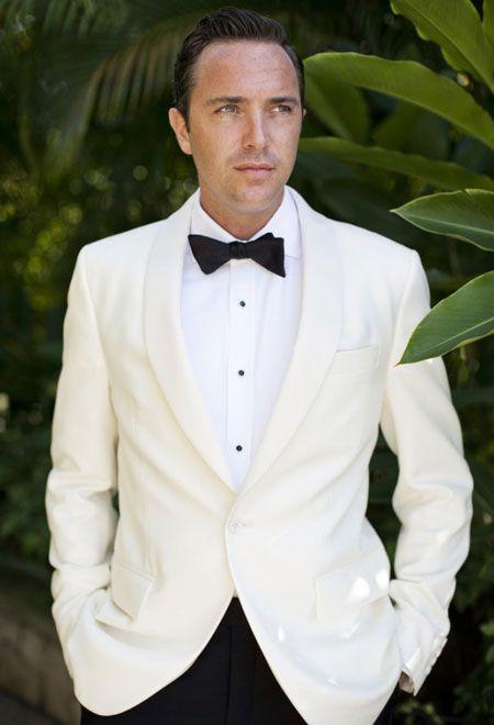 Beyaz Smokin Smokin Siyah Dugun Erkek Takim Elbiseleri