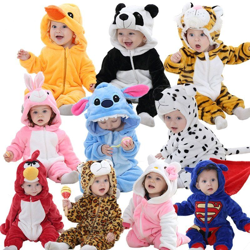 Baby Costume Infant Baby  Jumpsuit Plush Halloween Party Newborn Cosplay Toddler
