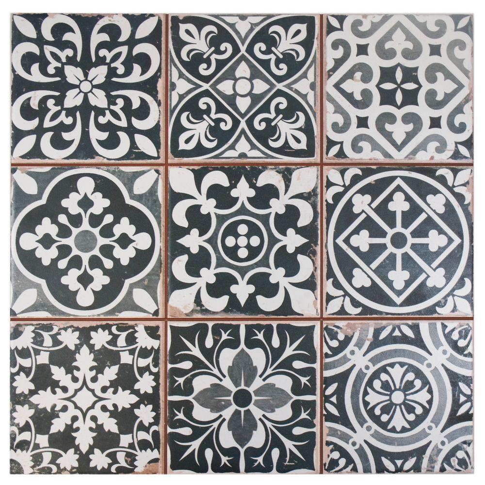 Somertile 13x13 inch faventia nero ceramic floor and wall tile case somertile faventia nero ceramic floor and wall tile case of overstock shopping big discounts on somertile floor tiles dailygadgetfo Images