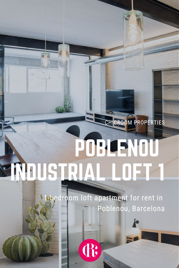 1 Bedroom Loft Apartment For Rent In Poblenou Barcelona Poblenou Industrial Loft 1 Apartments For Rent Furnished Apartments For Rent Loft Apartment