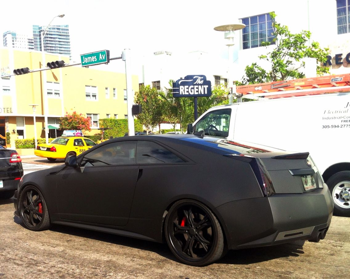 hight resolution of matte black cadillac cts v