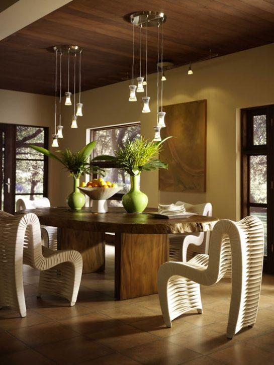 Ökologische möbel sessel tisch pendelleuchten esszimmer | interior, Innenarchitektur ideen