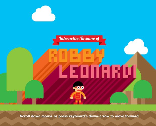 Super Mario CV - An Interactive Resume by Robby Leonardi - interactive resume