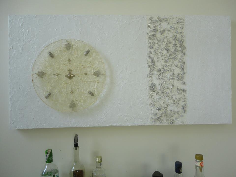 Painel em arte contemporânea, 0,80x1,60 em mandala com tema em acrílico.