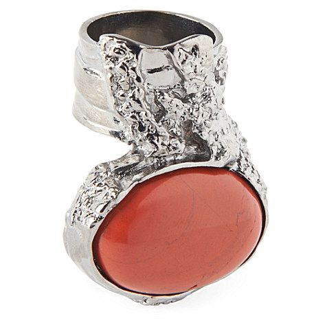 YVES SAINT LAURENT Arty silver-plated ring