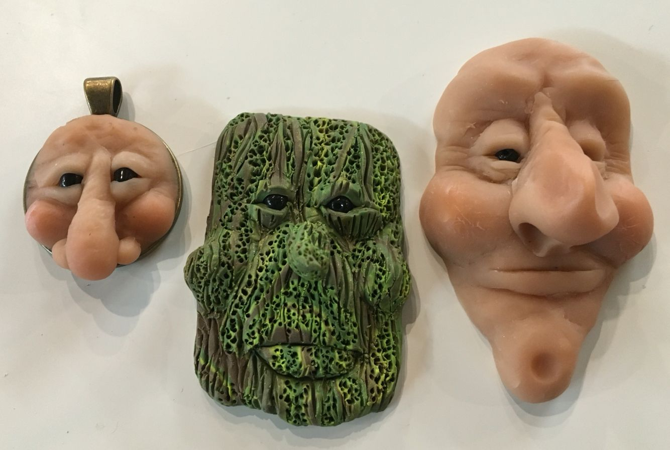 polymer clay face sculpting