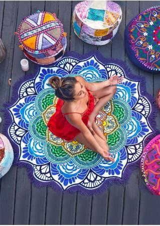 Mandala Lotus Flower Shape Beach Blanket Namaste In 2018 Mandala