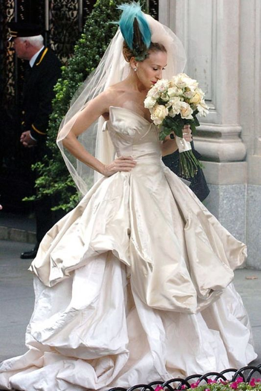 THE Wedding Carrie Bradshaw As The Bride Wearing Vivienne Westwood Gown