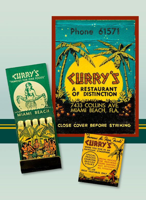 Florida Tropical Wall Decor PRINT Curry\'s Matchbook Print Hawaiian ...