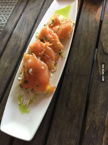 House Smoked Salmon with Crispy Potato Cake & Vermont Goat Cheese - from Canoe in Atlanta
