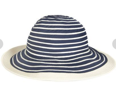 2e0121a1910 Barbour Sealand Sun Hat - Navy Stripe