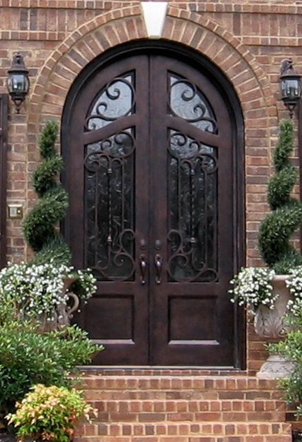 Iron Double Door Clark Hall Iron Doors Charlotte Nc Courtyard