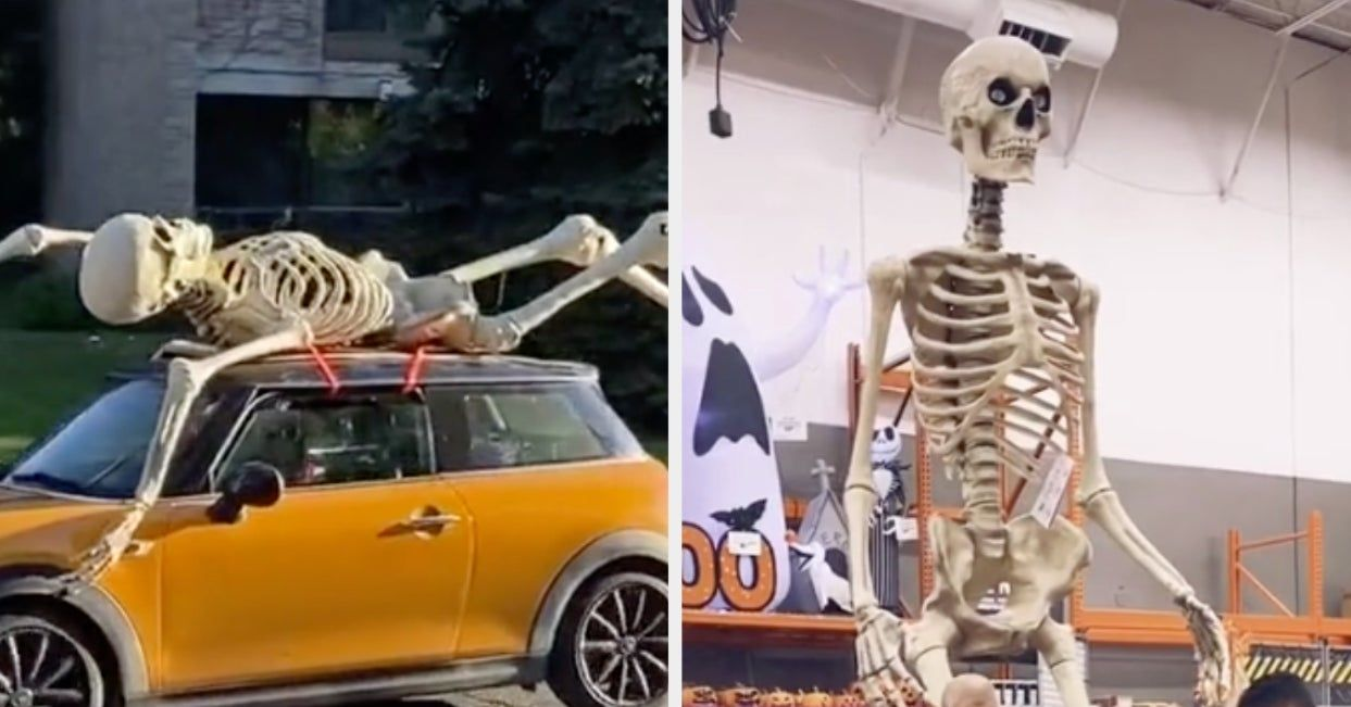 If You Re Looking To Win Halloween This Year Home Depot Is Selling 12 Foot Skeletons To Put In Your Yard Ju In 2020 Halloween This Year Foot Skeleton Giant Skeleton