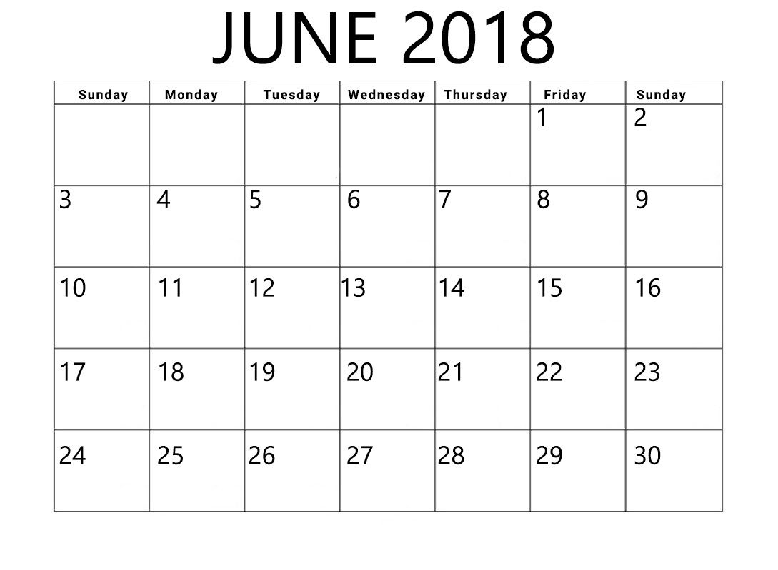 June 2018 Calendar Printable Word And Excel Format Calendar