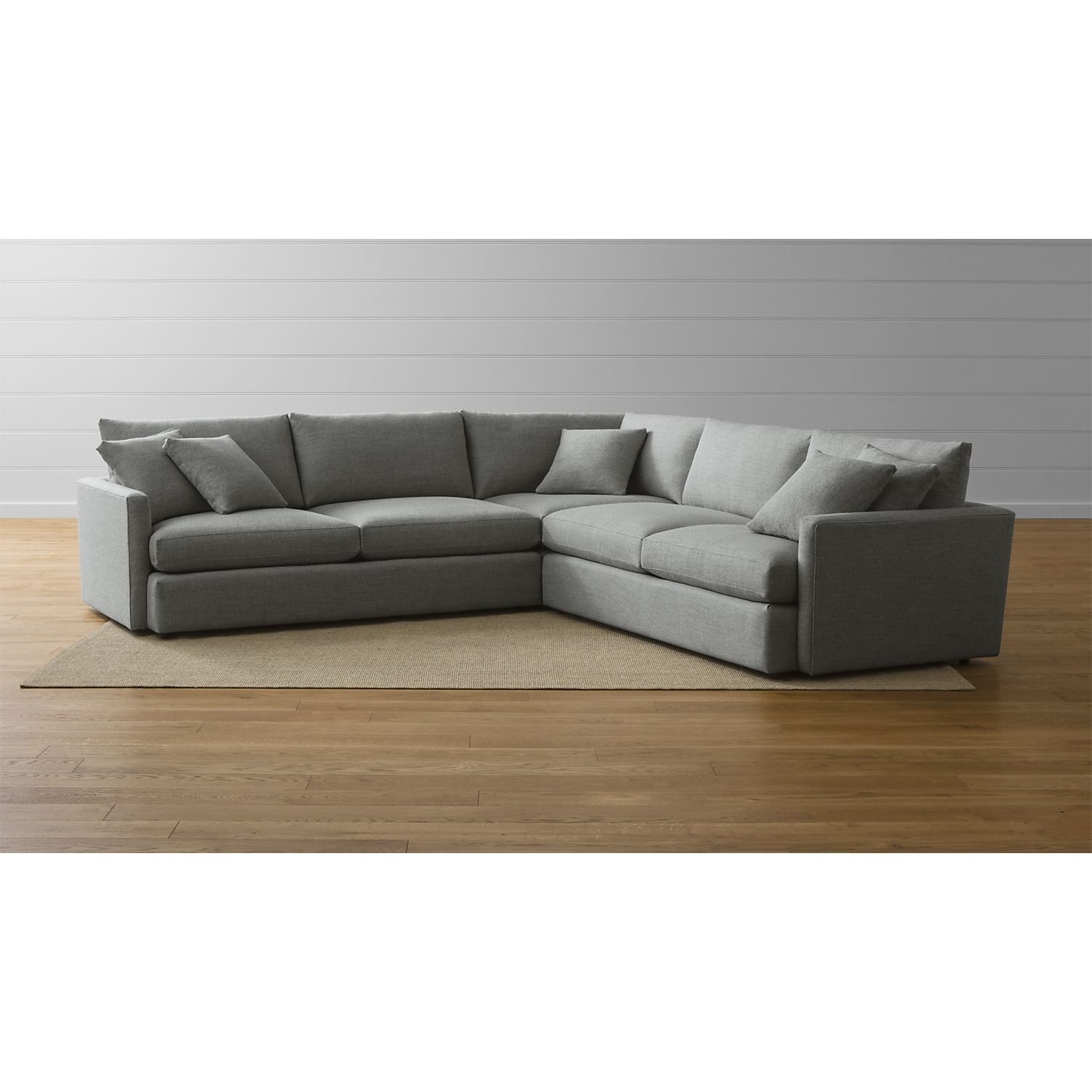 Lounge II 3 Piece Sectional Sofa Crate and Barrel