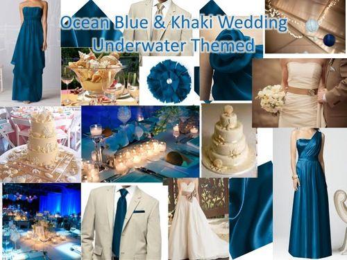 Musical Wedding Theme Color Schemes Themes Ocean Blue Khaki