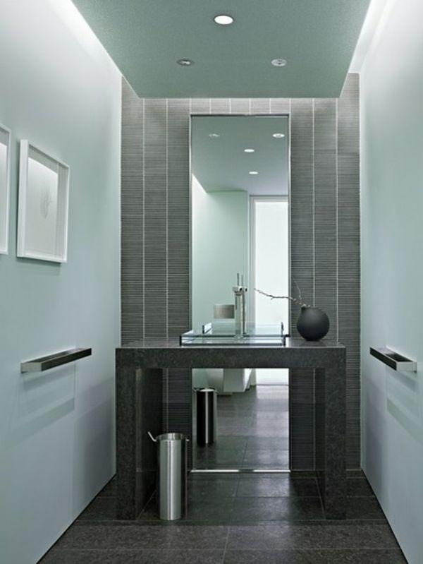 Luxus Badezimmer Deko dunkel damentoilette angenehm ambiente Mein