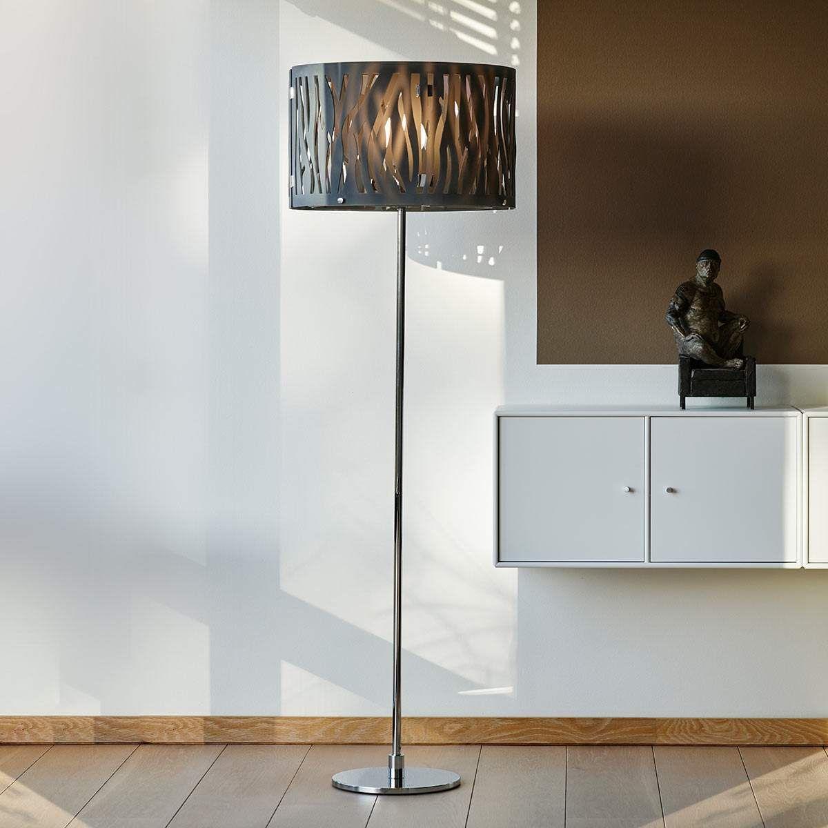 Stehleuchte Grass Mit Rauchgrauem Acrylschirm Mit Bildern Stehlampe Dimmbar Led Strahler Aussen Led Stehlampe