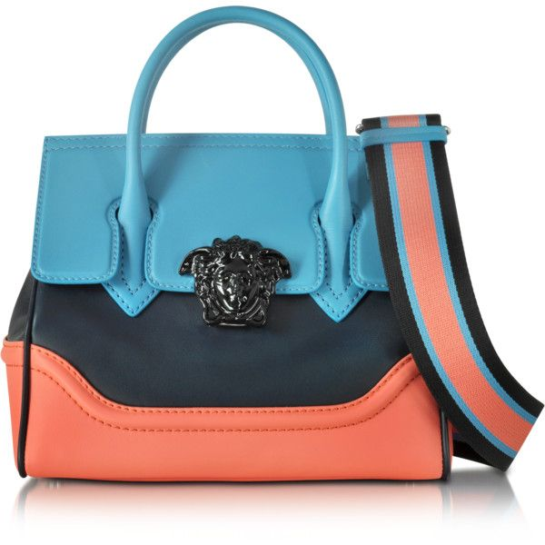 Versace Tote Bag On Sale, Blue Violet, Leather, 2017, one size