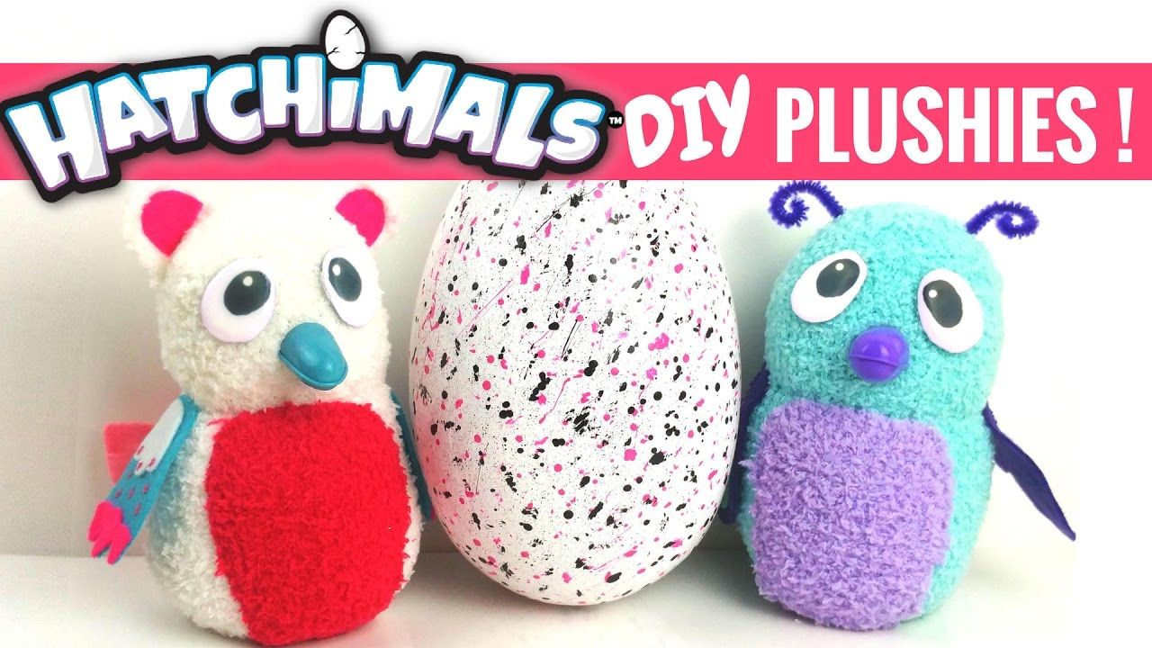✨DIY HATCHIMAL PLUSHIES TUTORIAL-with FREE PATTERN!/Sock Plushies ...