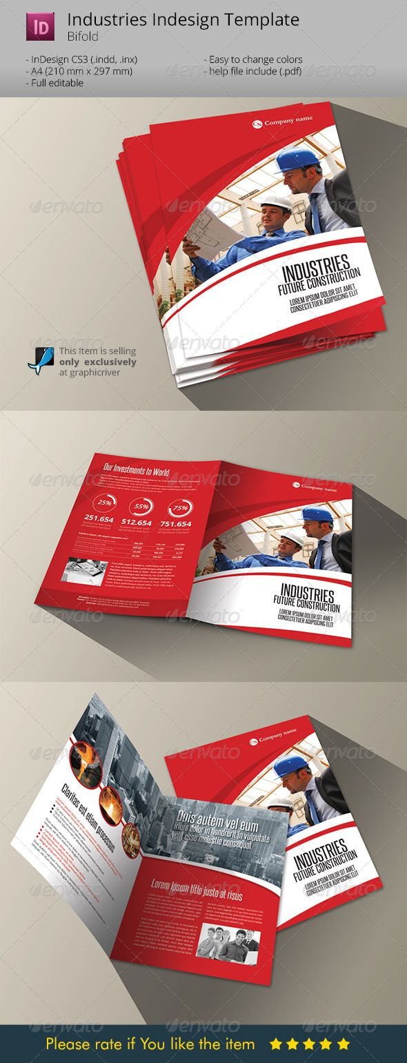 Industries Bifold Template Indesign Brochure A Brochures - Bi fold brochure template indesign
