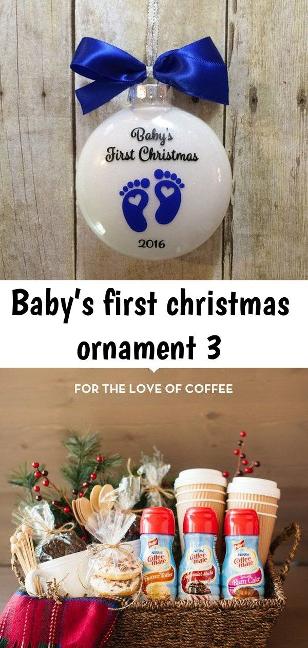 Baby's first christmas ornament 3 #boyfriendgiftbasket