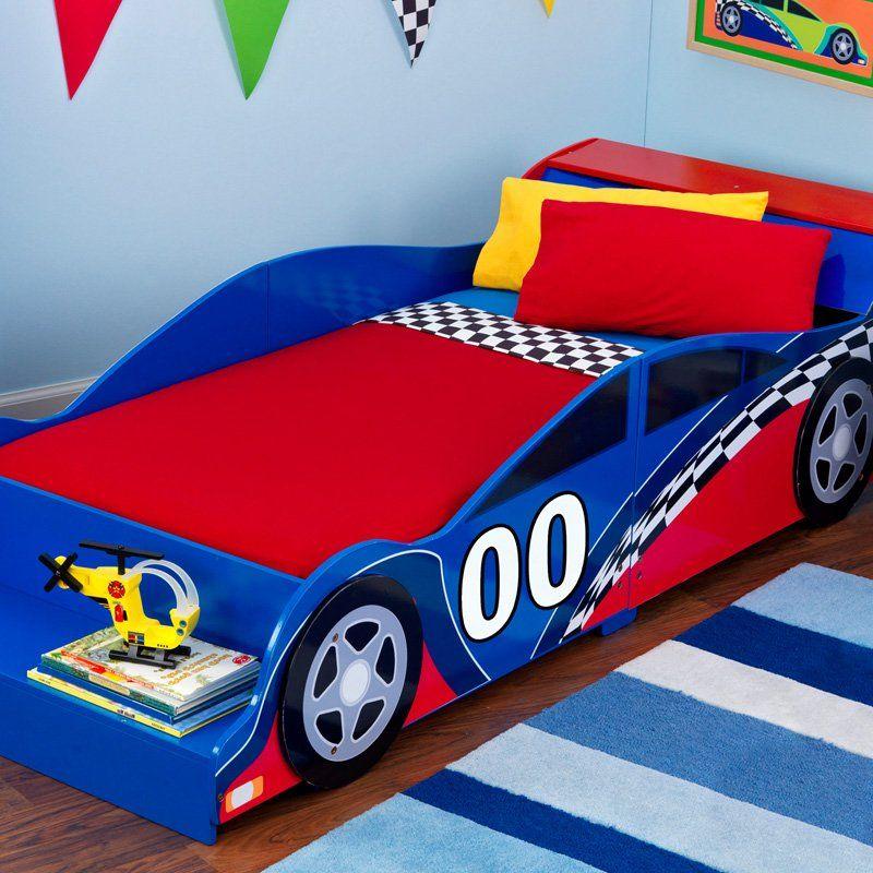 KidKraft Racecar Toddler Bed 76040 Toddler car bed
