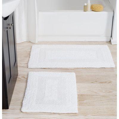 Plymouth Home Cotton 2 Piece Bath Rug Set Bath Mat Sets
