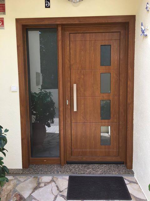 Dise o especial en aluminio foliado simil madera for Aberturas pvc simil madera precios