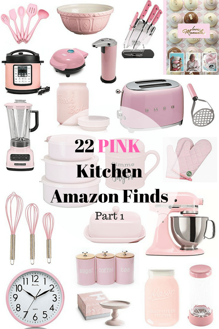 5 Pink Kitchen Amazon Finds  Pink kitchen, Pink kitchen decor