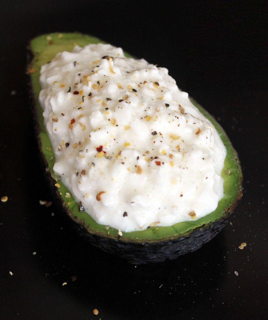 cottage cheese stuffed avocado