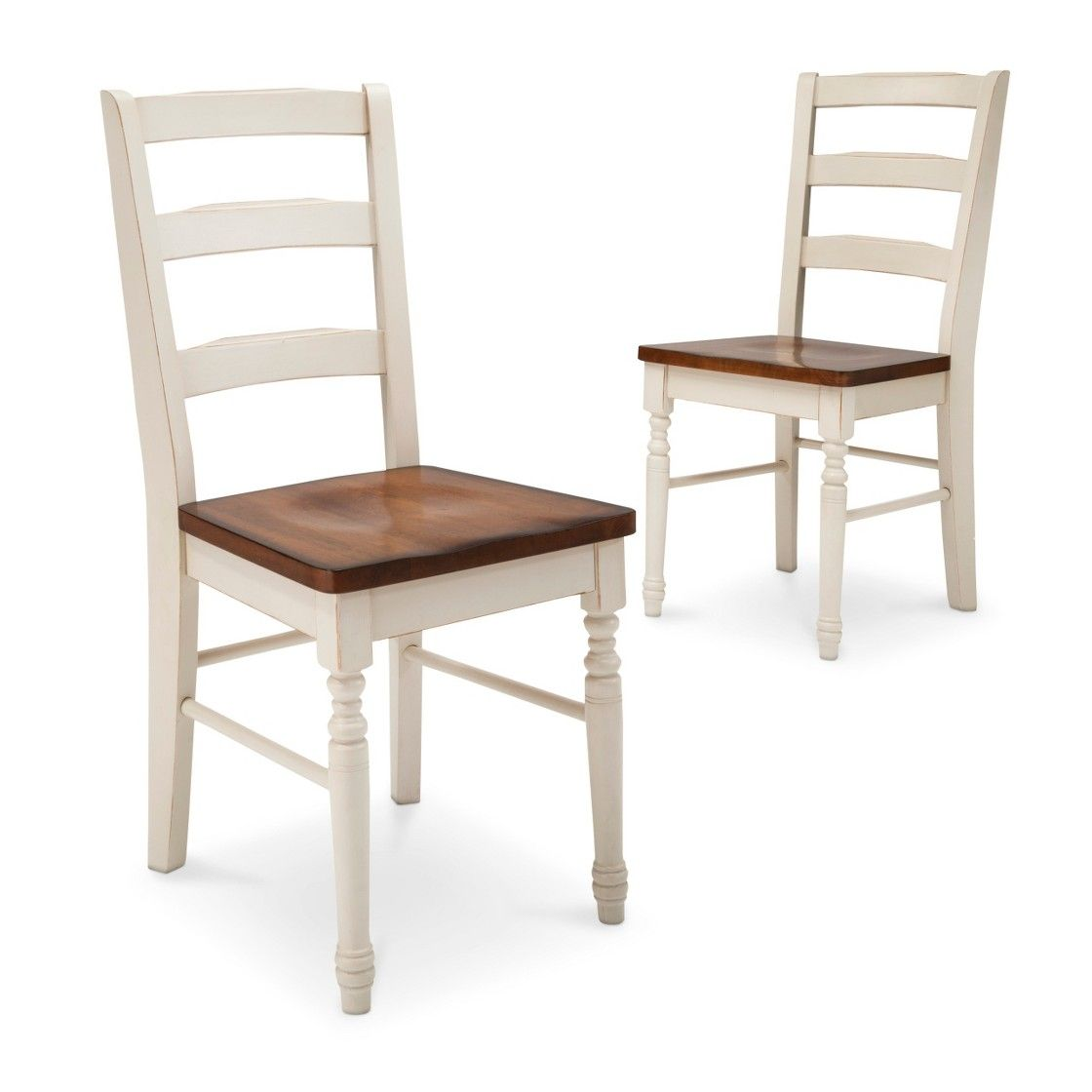 Mulberry Two Tone Distressed Dining Chair Set Of 2