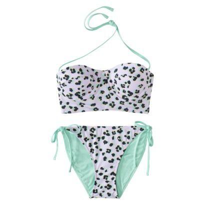 f8e9650af37 Xhilaration® Junior's Midkini 2-Piece Swimsuit -Leopard Print ...