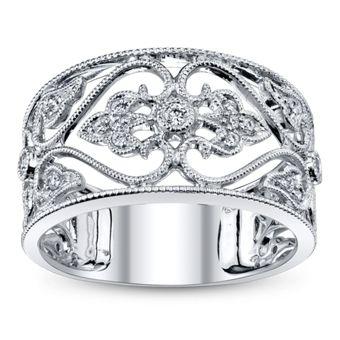 14K White Gold Diamond Anniversary Ring 1/6 Carat Total Weight