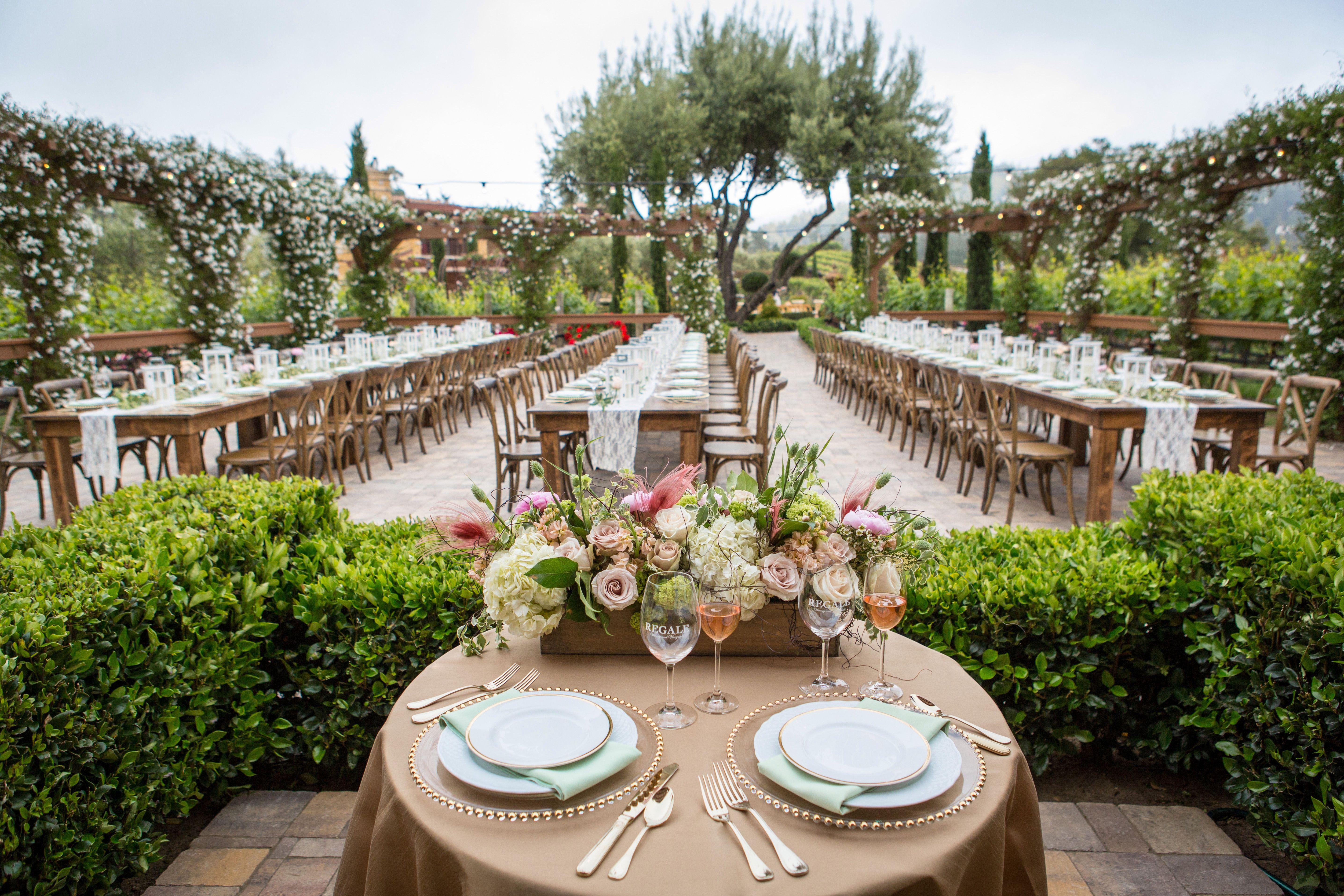 Weddings at Regale Winery Vineyard wedding venue