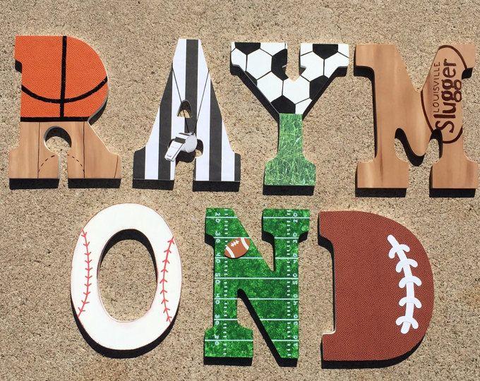 Sport En Bois Lettres Initiales De Lettres Bois Sport
