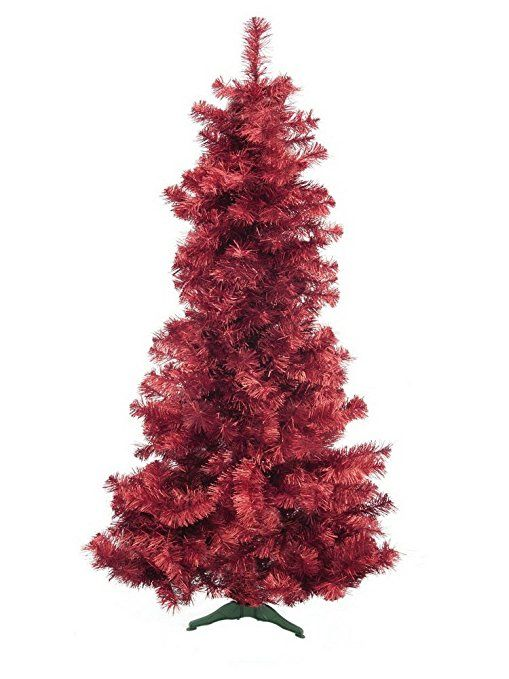 Durchmesser Weihnachtsbaum.Europalms X Mas 8350057 Kunststoff Tannenbaum Futura Rot Metallic